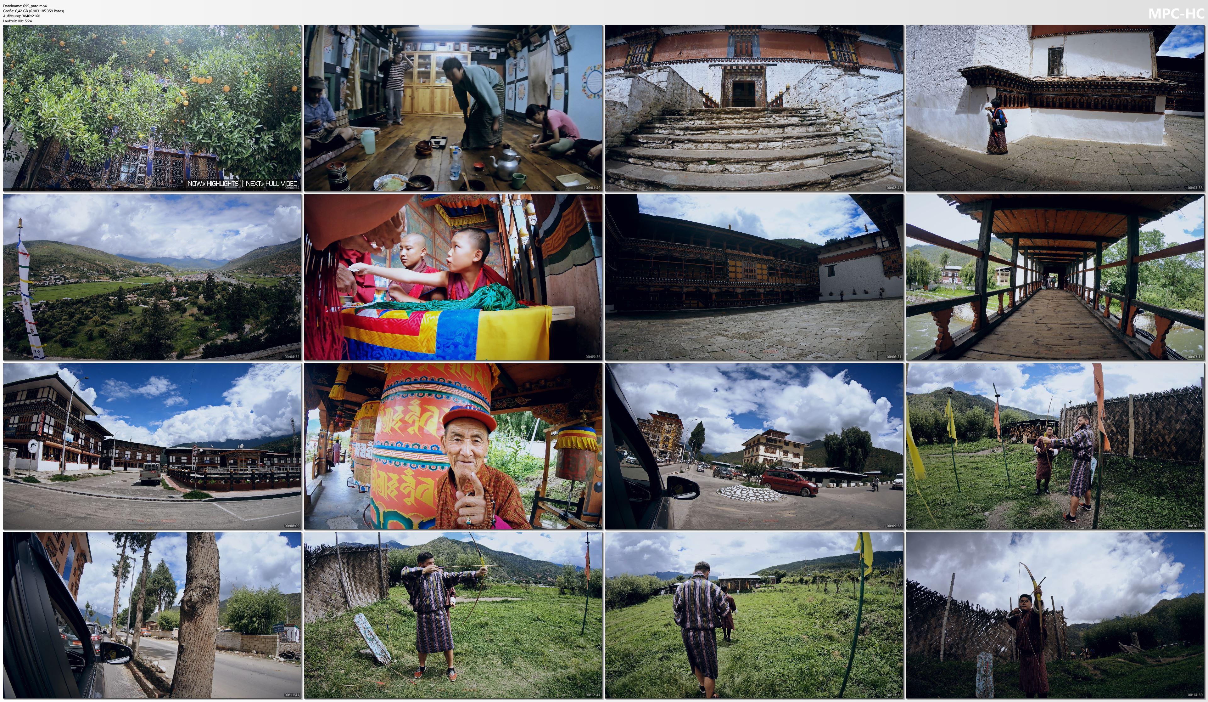 Pictures from Video 【4K】Virtual Walking Tour | Visiting Paro (Bhutan) | 2020 | UltraHD Travel Video