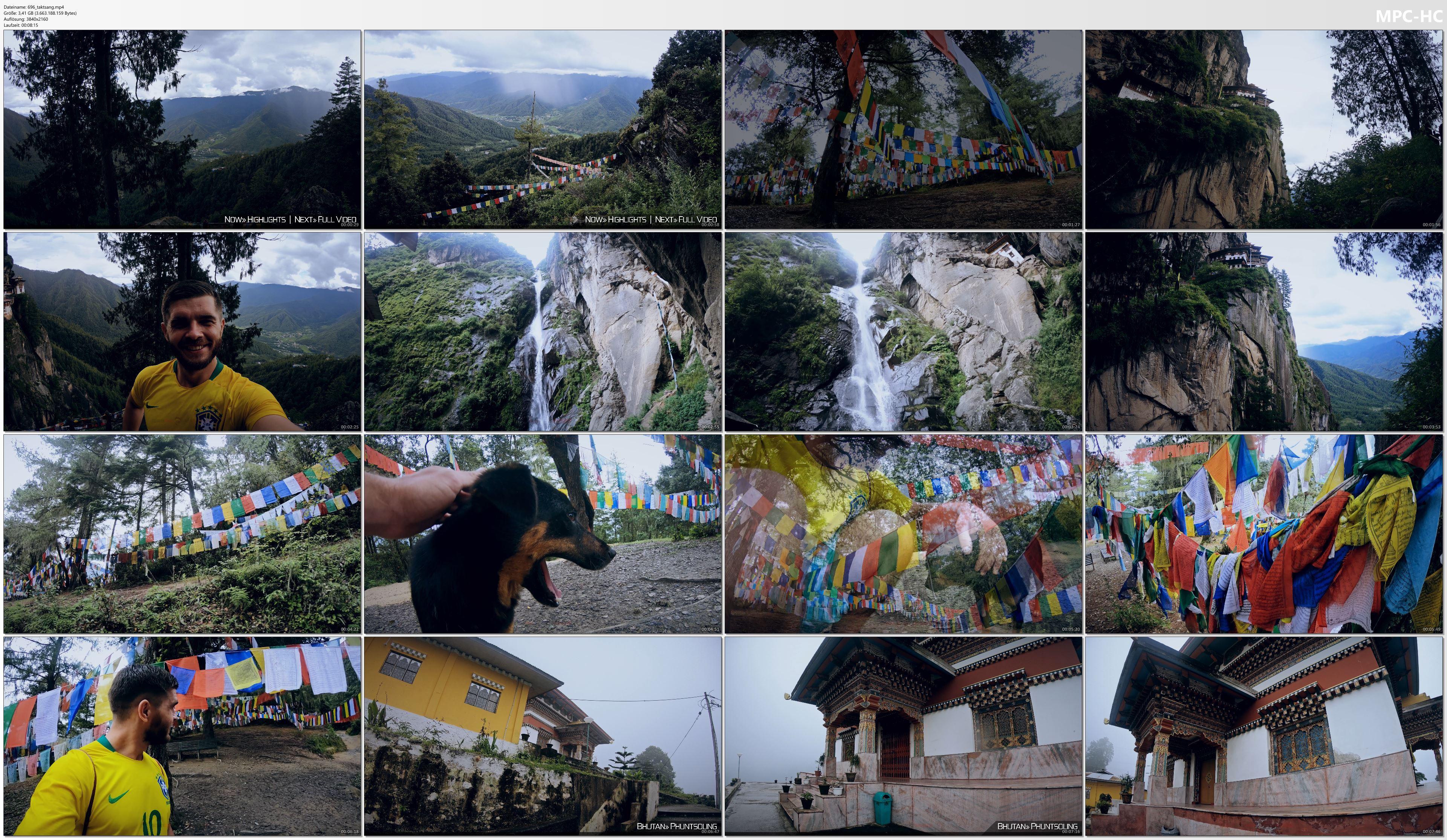 Pictures from Video 【4K】Virtual Walking Tour | Visiting Paro Taktsang (Tigers Nest Bhutan) | 2020 | UltraHD Travel Video