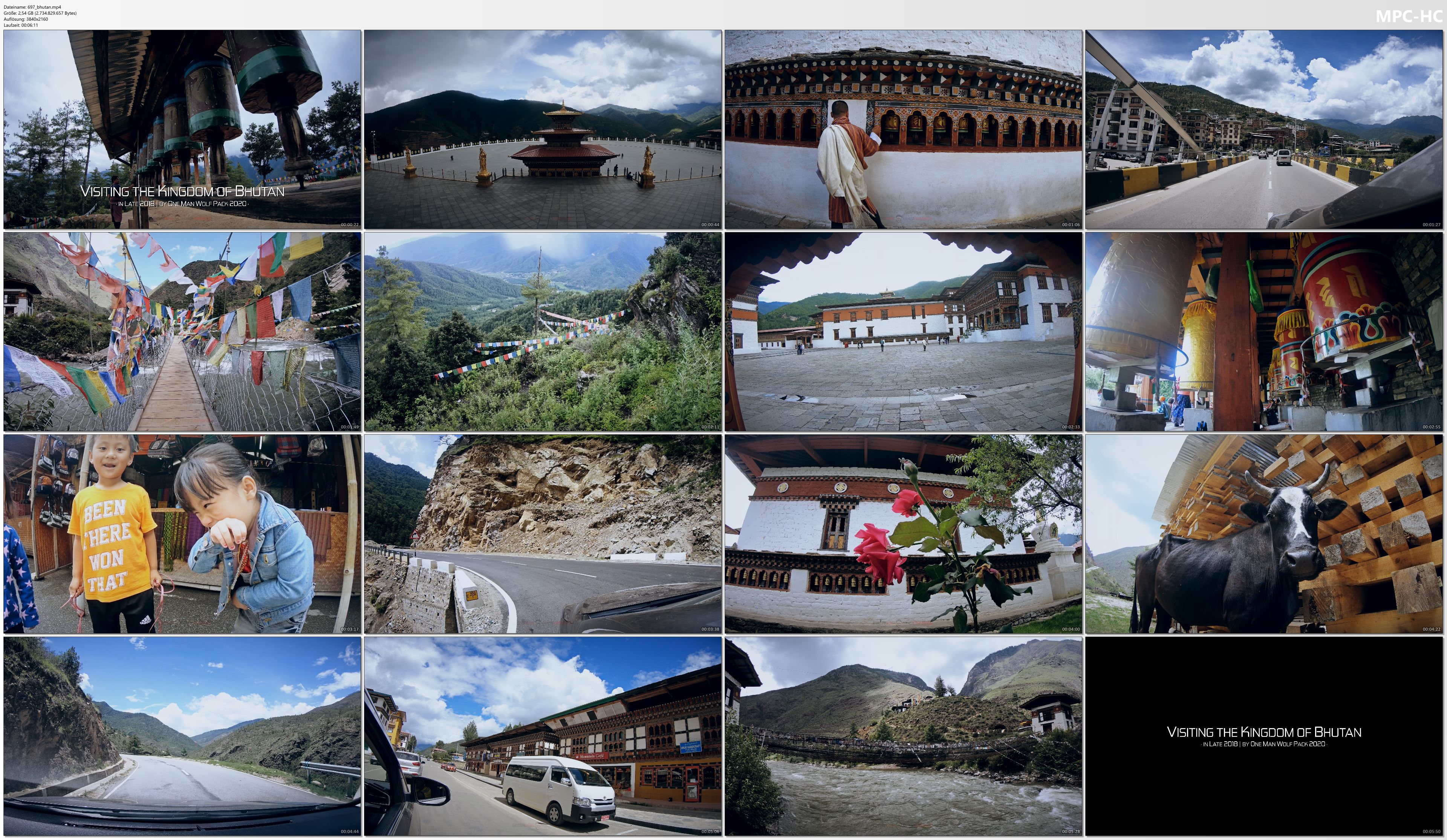 Pictures from Video 【4K】The Beauty of Bhutan | 2020 | UltraHD Travel Video
