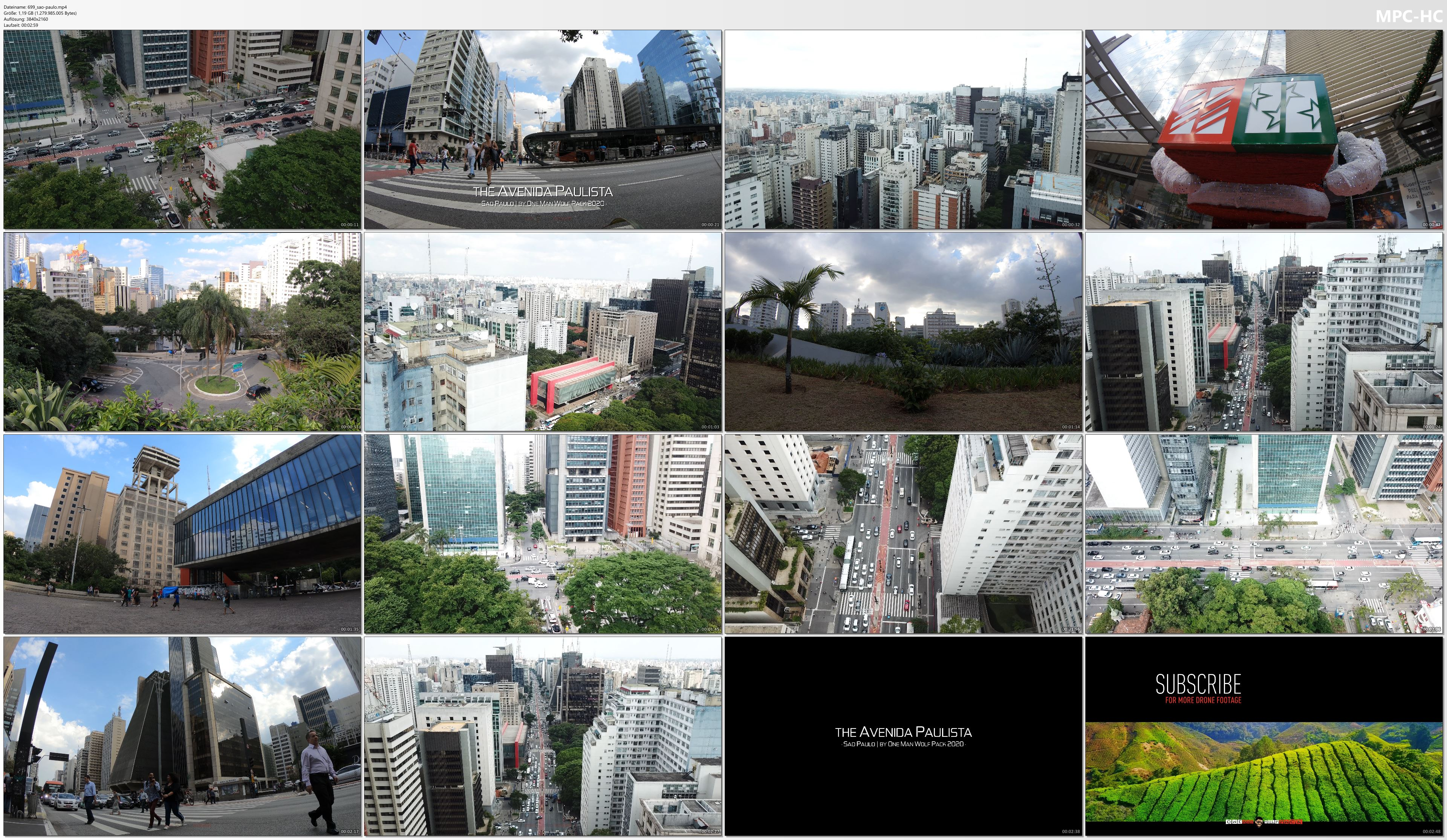 Drone Pictures from Video 【4K】Avenida Paulista from Above - BRAZIL 2020 | Sao Paulo | Cinematic Wolf Aerial™ Drone Film
