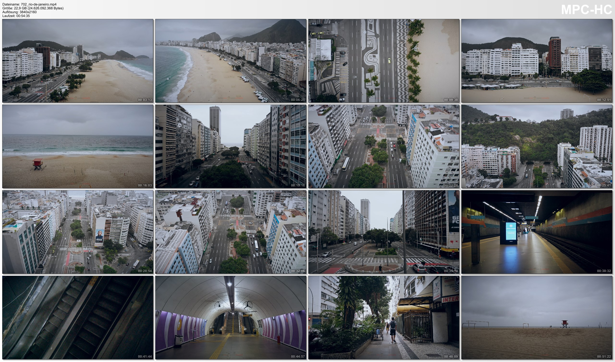 Drone Pictures from Video 【4K】Lockdown of Rio de Janeiro »1 Hour | BRAZIL | June 14, 2020 | Cinematic Wolf Aerial™ Drone Film