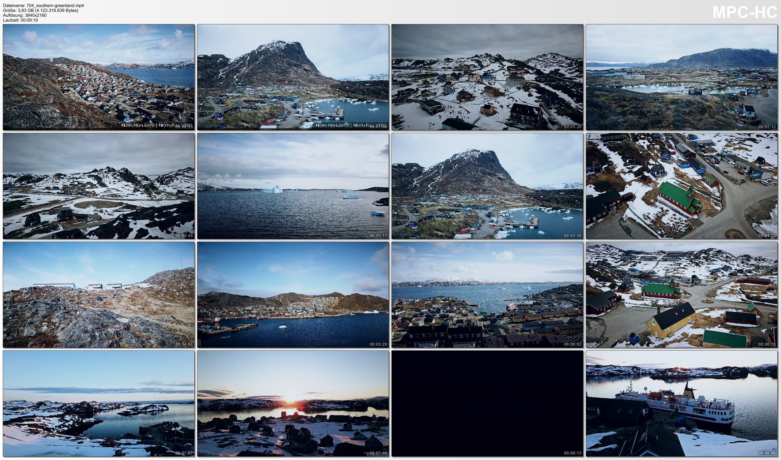 Drone Pictures from Video 【4K】Southern Greenland from Above 2020   Qaqortoq   Paamiut   Narsaq   Cinematic Aerial™ Drone Film