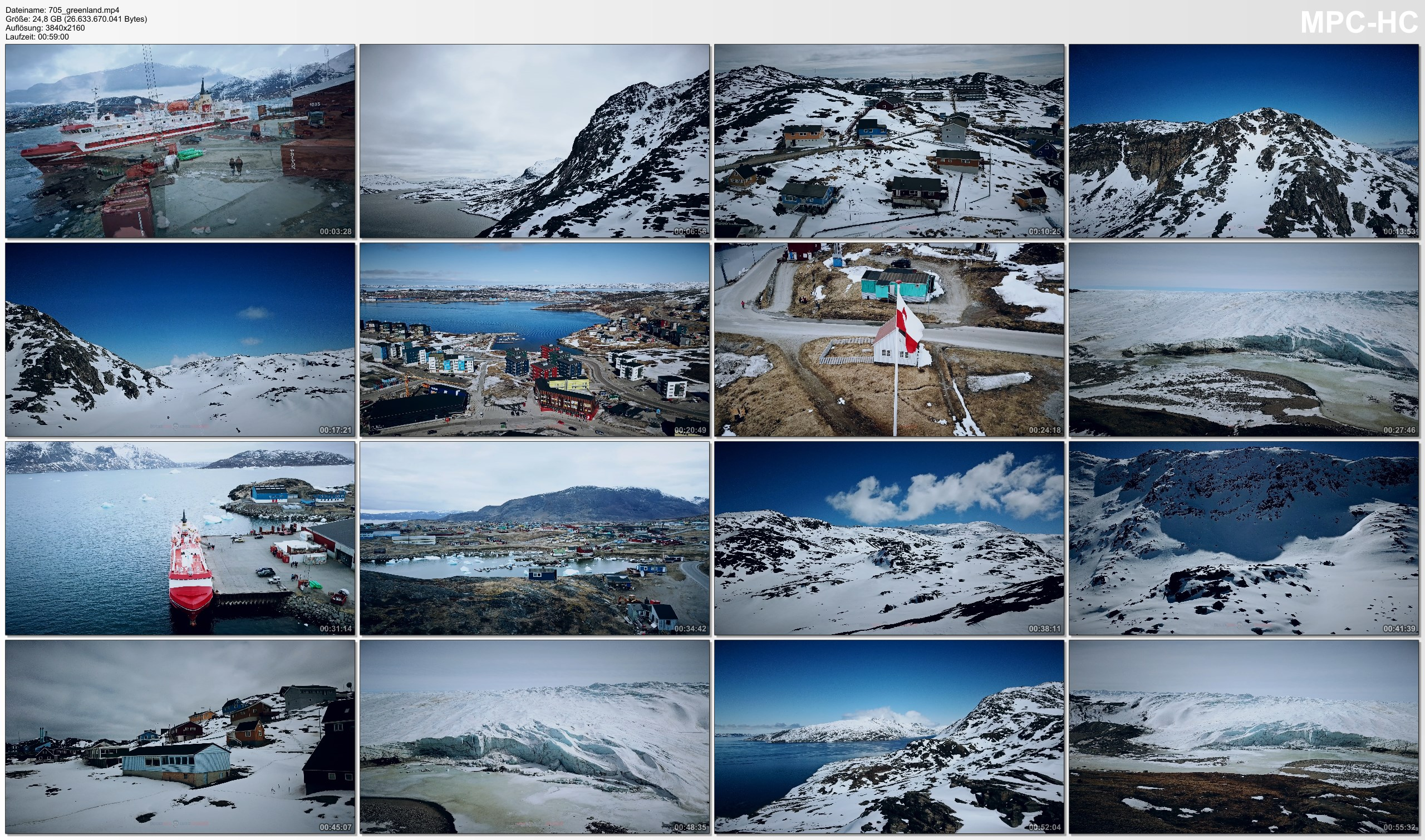 Drone Pictures from Video 【4K】1 HOUR DRONE FILM: «Greenland - The Ice Planet» Ultra HD + Chillout Music (for 2160p Ambient TV)