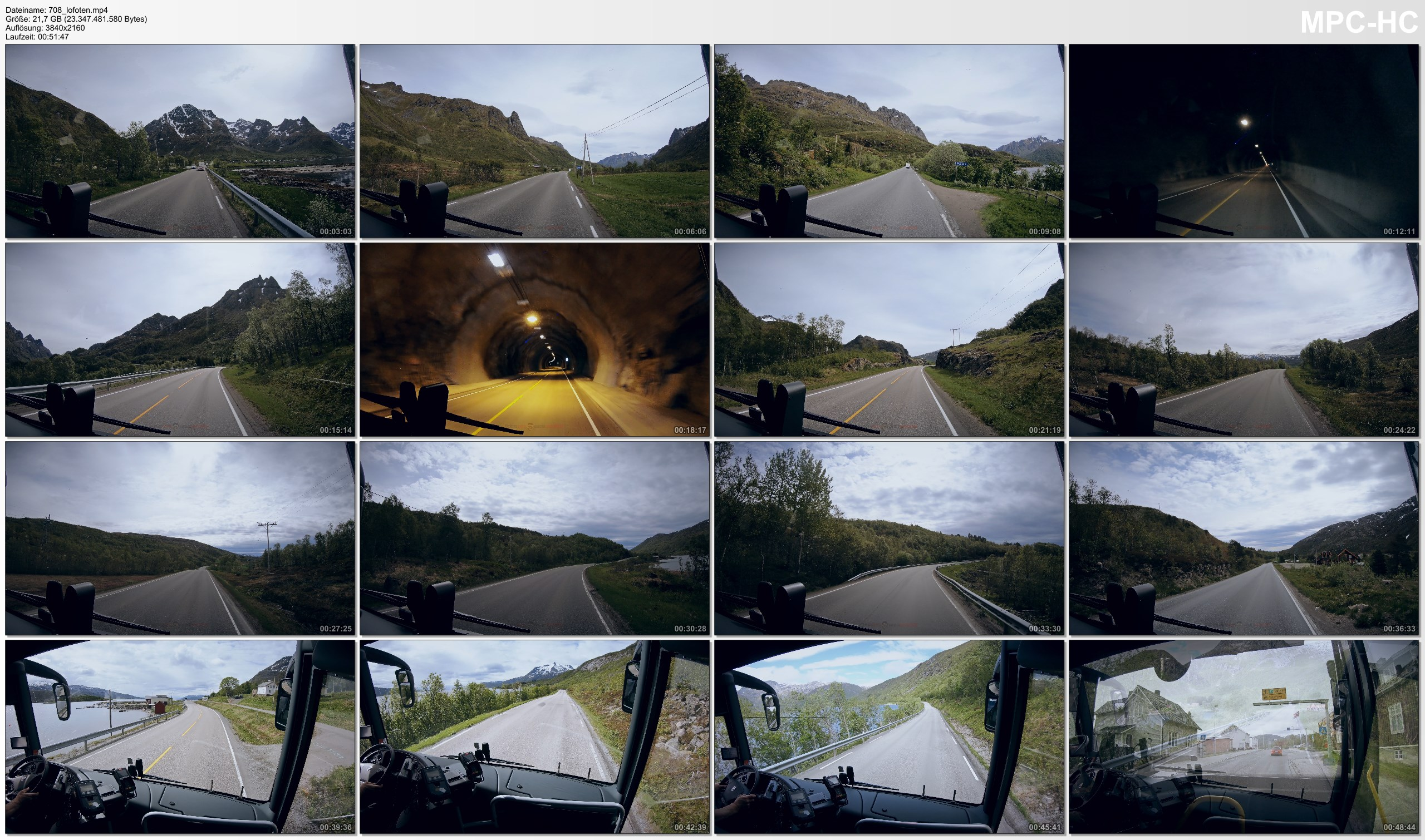 Pictures from Video 【4K】1 HOUR RELAXATION FILM: «Driving the Lofoten» Ultra HD + Chillout Music (for 2160p Ambient TV)