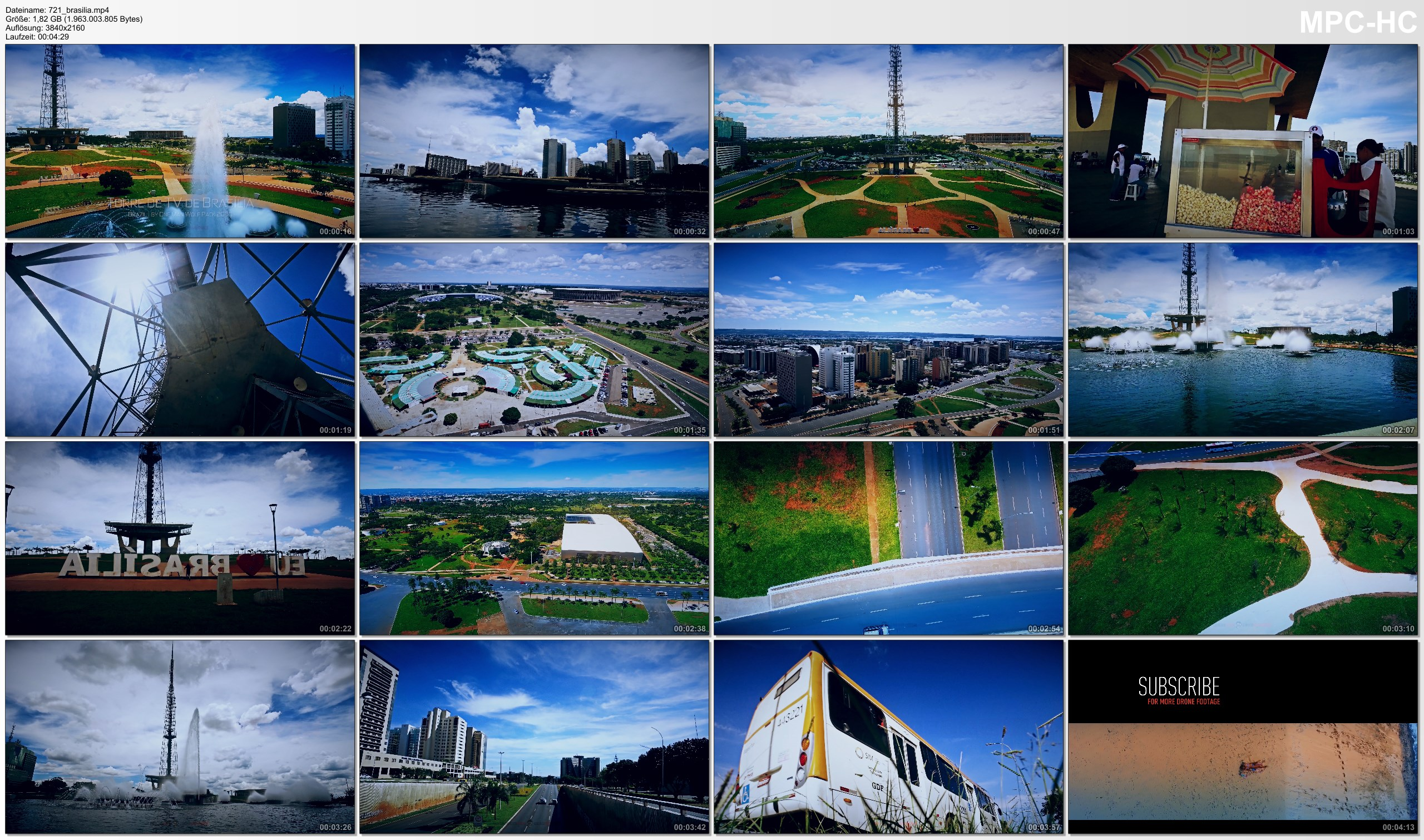 Pictures from Video 【4K】SIGHTSEEING: «The Brasilia TV Tower» Brazil 2020   Ultra HD Travel Video