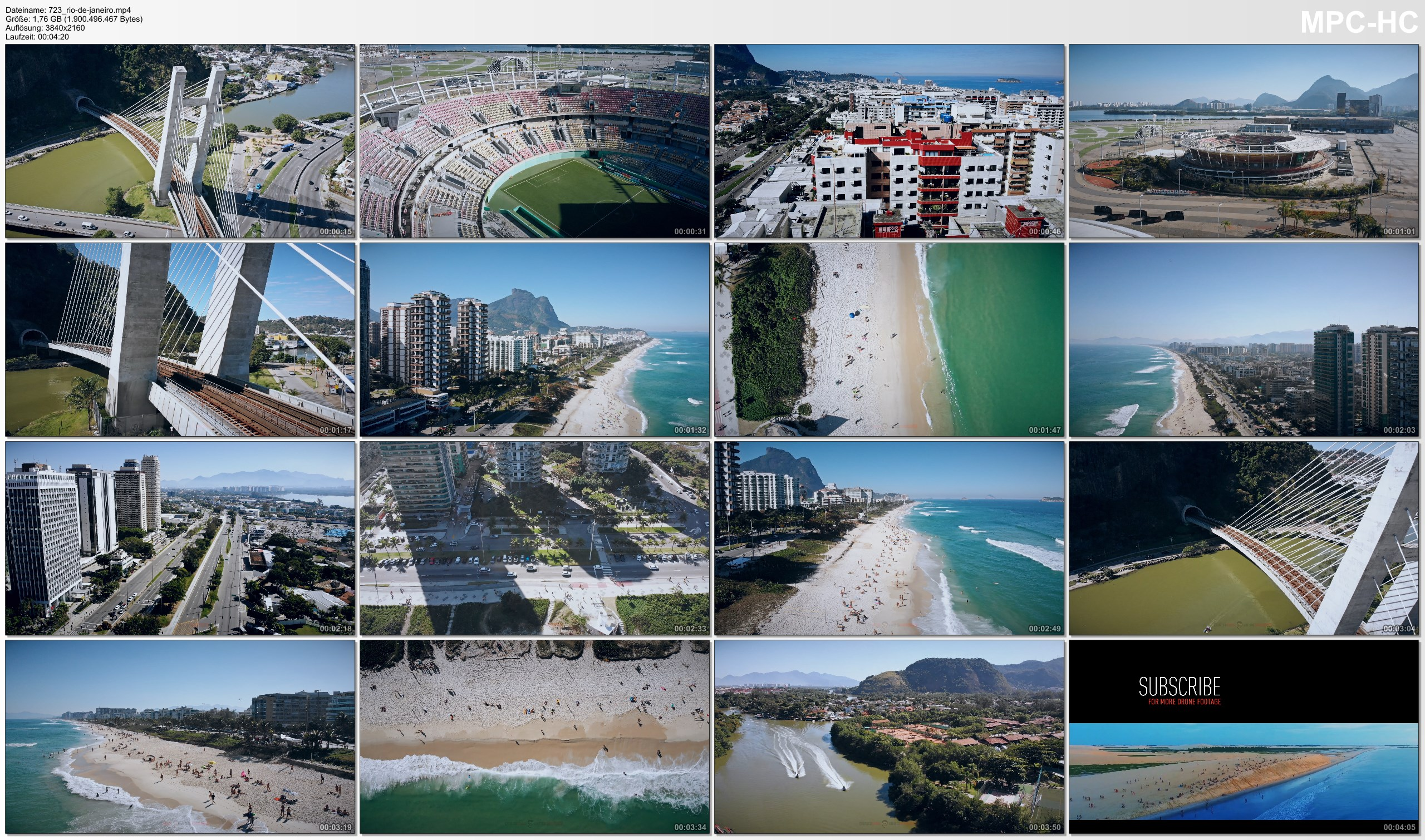 Drone Pictures from Video 【4K】DRONELAPSE FILM: «Barra da Tijuca (Rio)» Brazil 2020 | Ultra HD