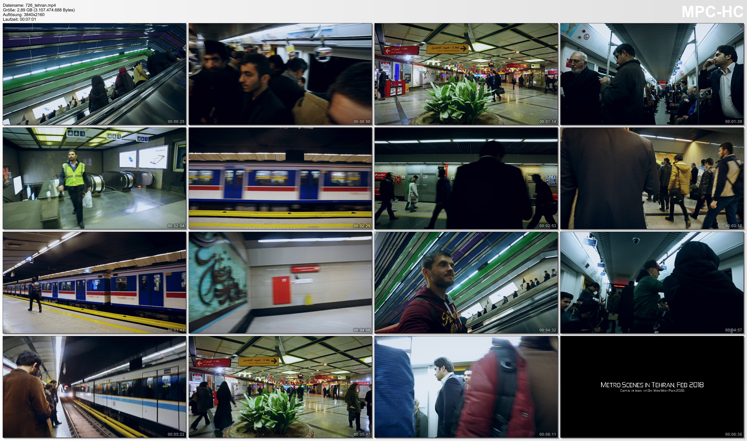 Pictures from Video 【4K】SIGHTSEEING: «Tehran Metro» Iran 2020 | Ultra HD Travel Video
