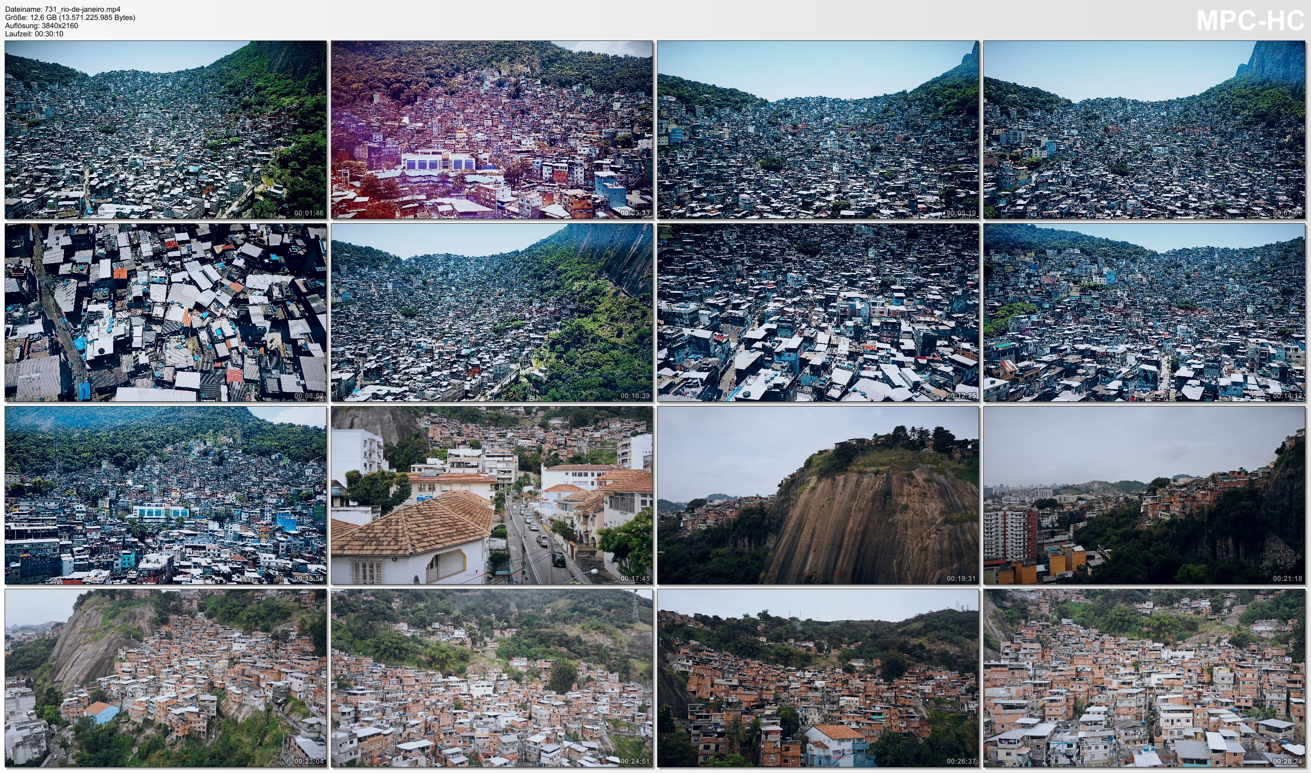 Drone Pictures from Video 【4K】30 MIN DRONE FILM: «Favelas of Rio de Janeiro» Ultra HD