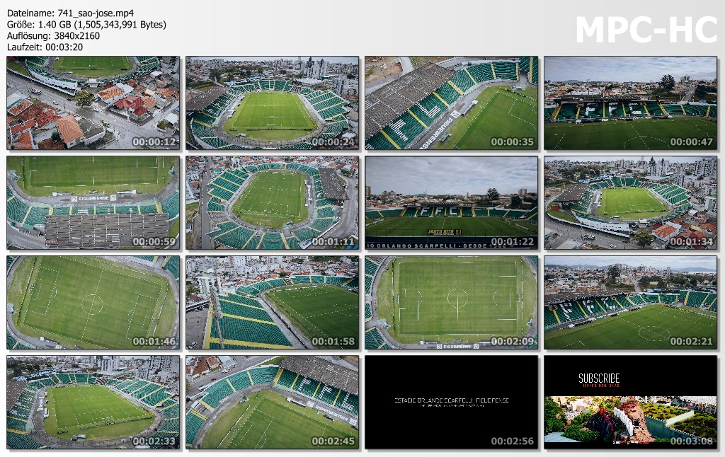 Drone Pictures from Video 【4K】Estadio Orlando Scarpelli from Above - BRAZIL 2020 | Figueirense | Cinematic Wolf Aerial™ Drone