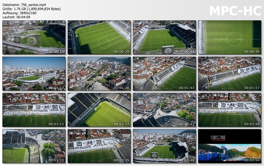 Drone Pictures from Video 【4K】Vila Belmiro from Above - BRAZIL 2020 | Santos FC Stadium | Cinematic Wolf Aerial™ Drone Film