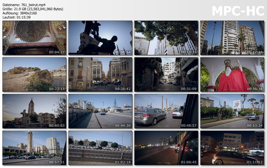 Pictures from Video 【4K】VIRTUAL WALKING TOUR: «Beirut - Capital of Lebanon 2020» Ultra HD | City Sounds