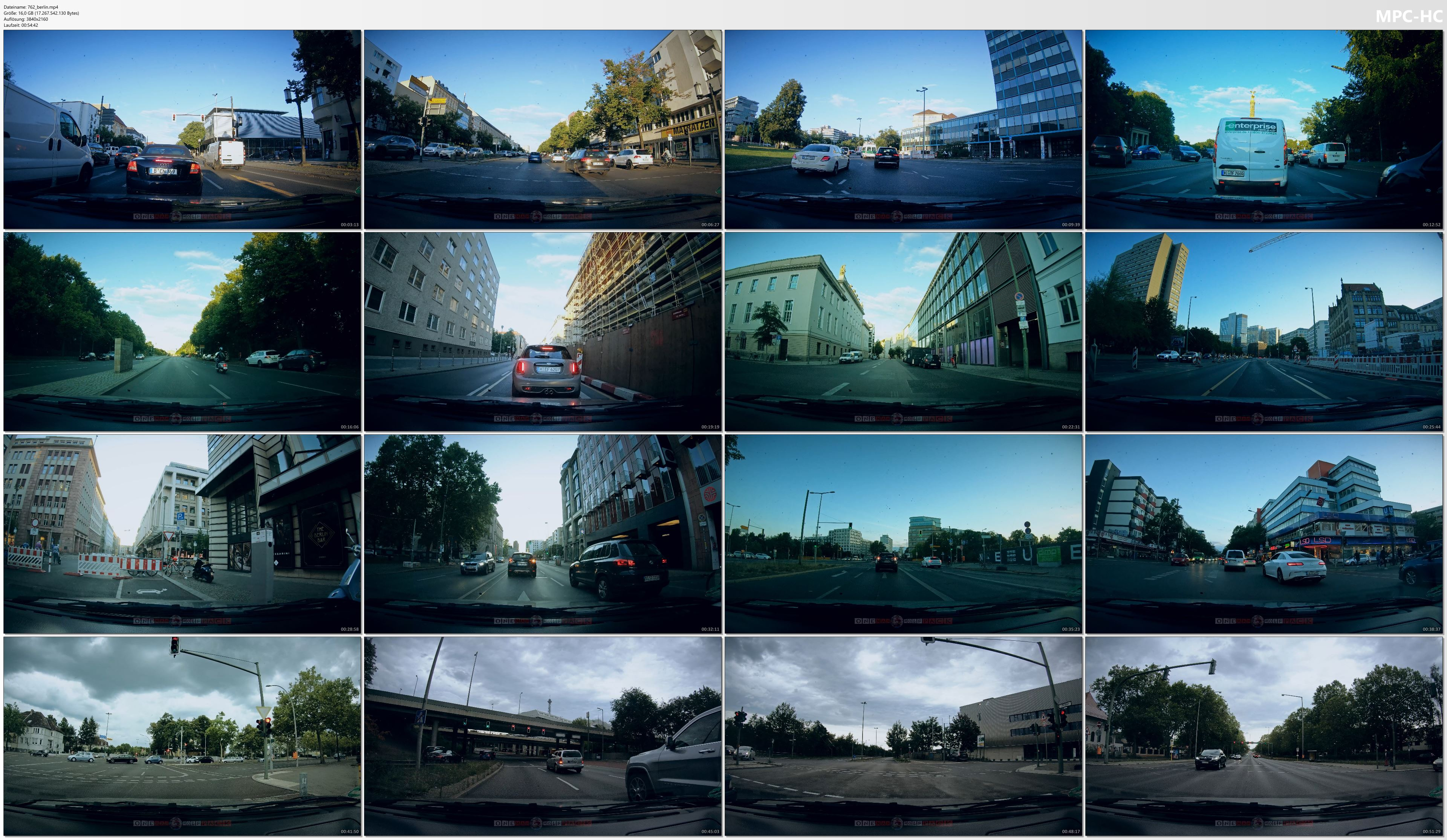 Pictures from Video 【4K】1 HOUR RELAXATION FILM: «Driving in Berlin (Germany)» Ultra HD (for 2160p Ambient TV)