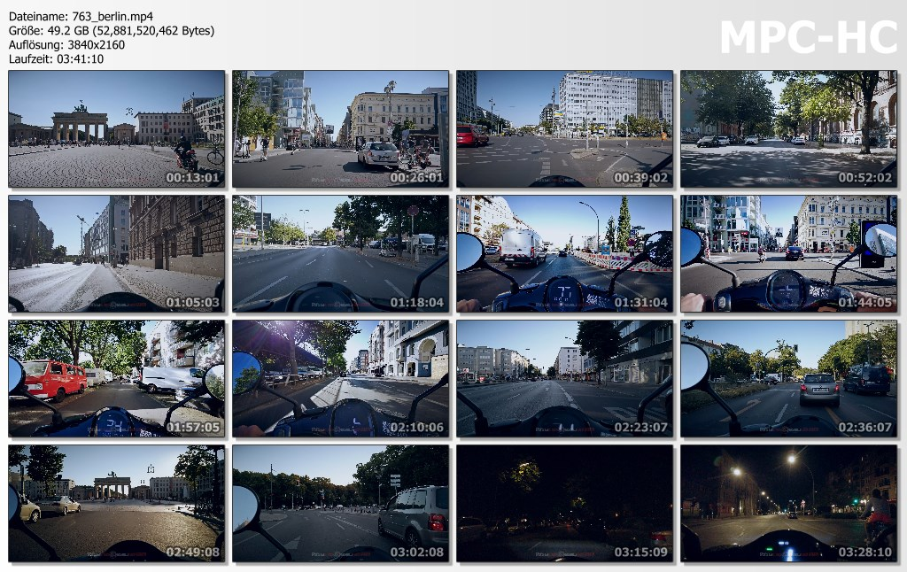 Pictures from Video 【4K】3.5 HOUR RELAXATION FILM: «Driving e-Scooter in Berlin (Germany)» Ultra HD (2160p Ambient TV)