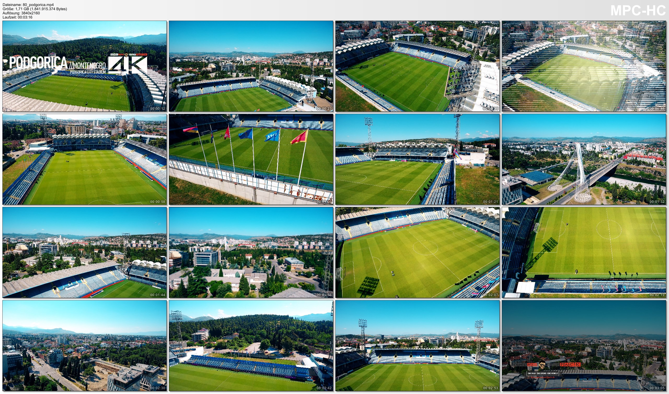 Drone Pictures from Video 【4K】Drone Footage | PODGORICA CITY STADIUM Montenegro ..:: Spectacular Arenas 2019