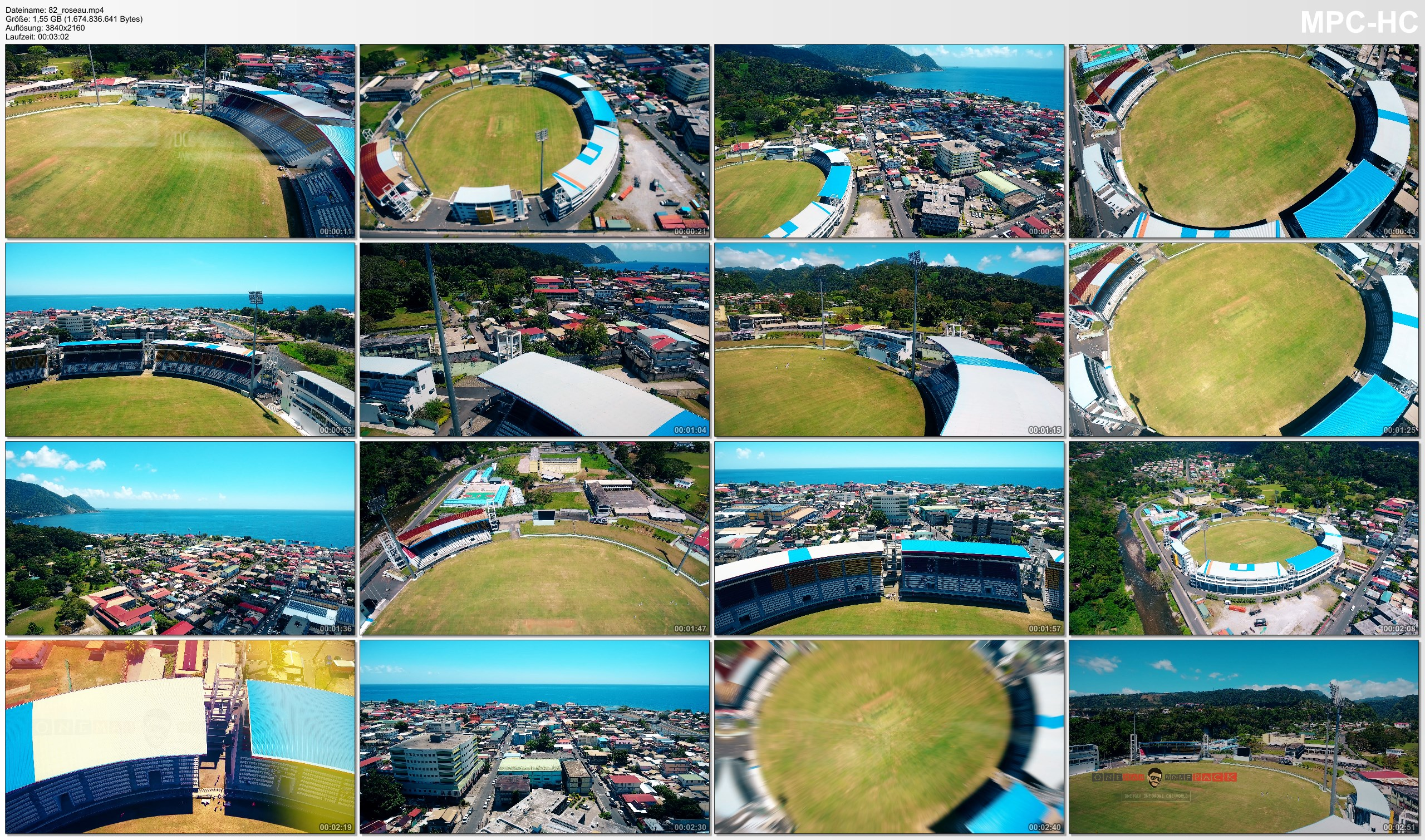 Drone Pictures from Video 【4K】Drone Footage | WINDSOR PARK STADIUM Dominica ..:: Spectacular Arenas 2019