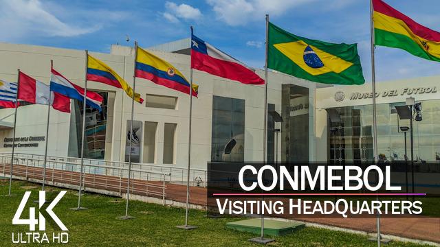 【4K 60fps】VIRTUAL WALKING TOUR: «CONMEBOL HeadQuarters 2021» in Paraguay Ultra HD