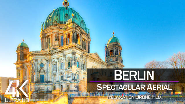 【4K】Berlin Drone Tour and Deep House Playlist | Ultra HD | Relaxation | 2160p Ambient UHD TV