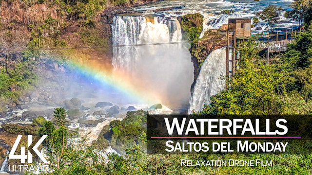 【4K】Saltos del Monday from Above | Most beautiful WATERFALLS of PARAGUAY | Cinematic Wolf Aerial™