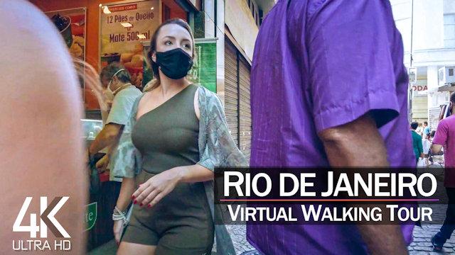 【4K 60fps】VIRTUAL WALKING TOUR: «Downtown Rio de Janeiro - Brazil 2021» | Original Sounds RJ