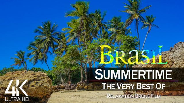 【4K】DRONE FILM: «Summer in Brazil» | Ultra HD | Lo-Fi Chillout Music