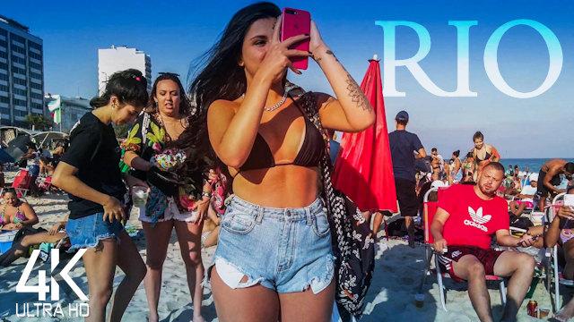 【4K 60fps】RIO BEACH PARTY SATURDAY: «Leblon & Ipanema - Brazil 2021» | Original Sound UHD