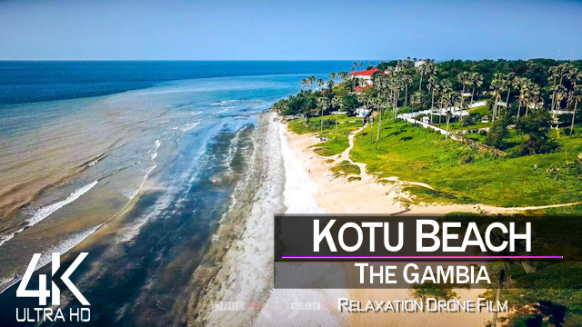 【4K】Kotu Beach from Above | Serekunda - THE GAMBIA 2021 | Cinematic Wolf Aerial™ Drone Film