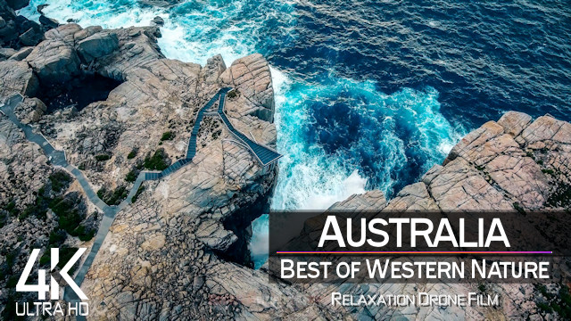 【4K】3 HOUR DRONE FILM: «The Beauty of Western Australia» | Ultra HD | Piano Relaxation