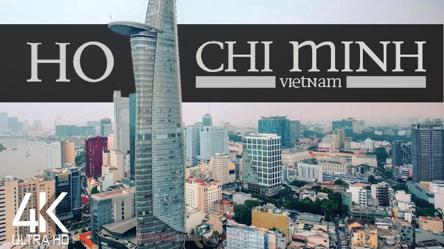 【4K】¼ HOUR DRONE FILM: «This is Ho Chi Minh City» | Vietnam | Lo-Fi Music