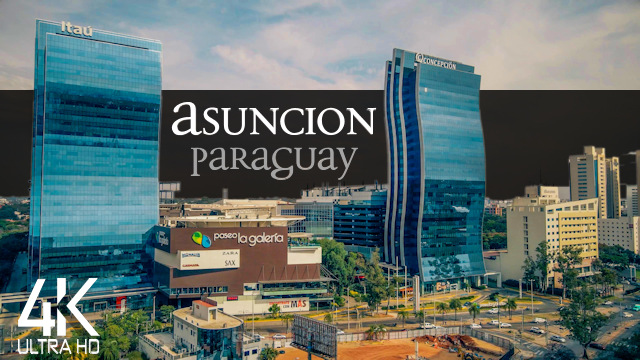 【4K】3 ½ HOUR DRONE FILM: «This is Asuncion» | Paraguay | Piano Relaxation Music