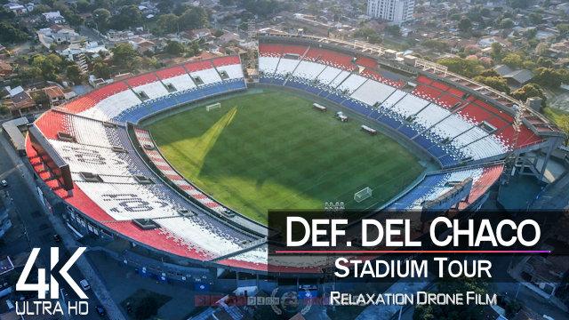 【4K】Estadio Defensores del Chaco from Above | Biggest Stadium of PARAGUAY 2021 |