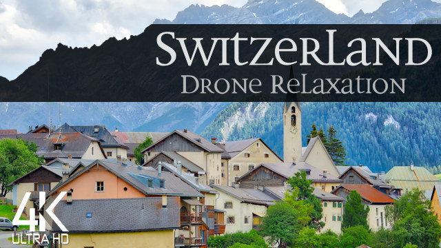 【4K】11 ½ HOUR DRONE FILM: «The Beauty of Switzerland» | Ultra HD | Piano Relaxation Music