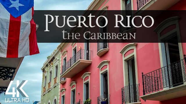 【4K】2 HOUR REGGAE DRONE FILM: «The Beauty of Puerto Rico» | Ultra HD | Music (UHD Ambient TV)