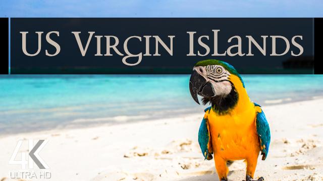 【4K】¼ HOUR DRONE FILM: «American Virgin Islands»   Ultra HD   Relaxation Music (UHD TV)