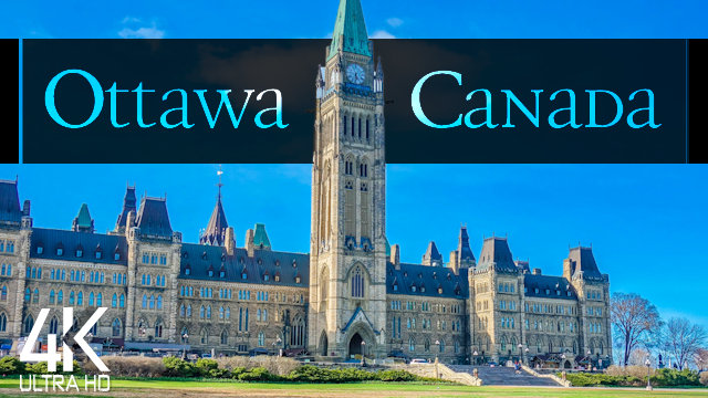 【4K】½ HOUR DRONE FILM: «Ottawa - Capital of Canada»   Ultra HD   Chillout Music UHD