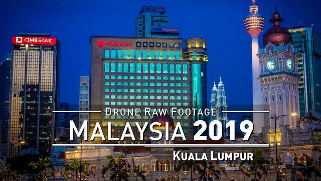 【4K】Drone RAW Footage | MALAYSIA 2019 ..:: Kuala Lumpur [5 HOURS DAY & NIGHT] | UltraHD Stock Video