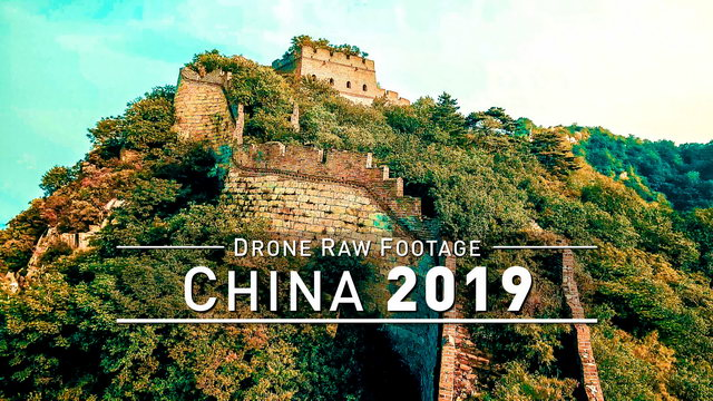 【4K】Drone RAW Footage | CHINA 2019 ..:: Great Wall :: Mutianyu :: Jinshanling | UltraHD Stock Video