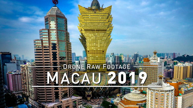 【4K】Drone RAW Footage | MACAU 2019 | UltraHD Stock Video