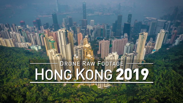 【4K】Drone RAW Footage | HONG KONG 2019 | UltraHD Stock Video