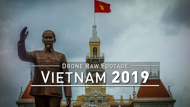 【4K】Drone RAW Footage | VIETNAM 2019 ..:: Ho Chi Minh City :: Halong Bay Hue Hoi An | UltraHD Video