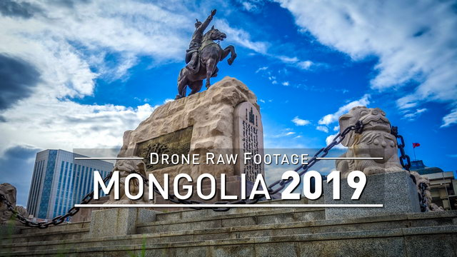 【4K】Drone RAW Footage | MONGOLIA 2019 ..:: Ulan Bator | UltraHD Stock Video