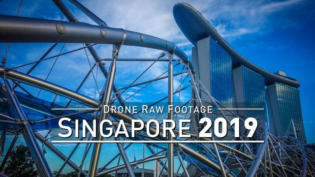 【4K】Drone RAW Footage | SINGAPORE 2019 | UltraHD Stock Video