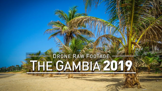 【4K】Drone RAW Footage | THE GAMBIA 2019 ..:: Serekunda :: Banjul | UltraHD Stock Video