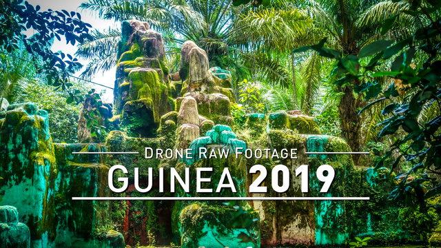 【4K】Drone RAW Footage   GUINEA 2019 ..:: Conakry :: Tanene   UltraHD Stock Video