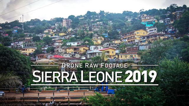 【4K】Drone RAW Footage   SIERRA LEONE 2019   UltraHD Stock Video