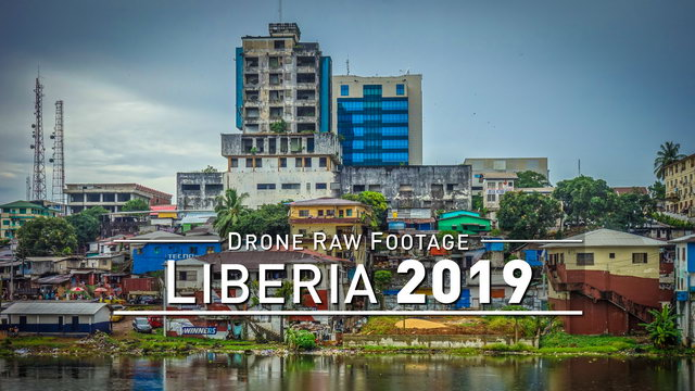 【4K】Drone RAW Footage   LIBERIA 2019 ..:: Monrovia   UltraHD Stock Video