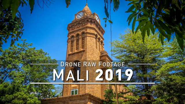 【4K】Drone RAW Footage | MALI 2019 ..:: Bamako | UltraHD Stock Video