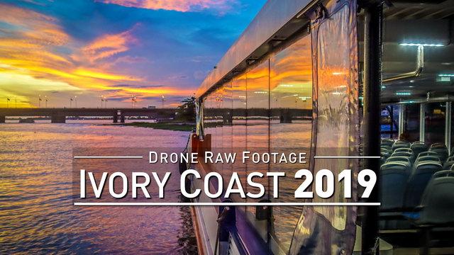 【4K】Drone RAW Footage   IVORY COAST 2019 ..:: Abidjan   UltraHD Stock Video