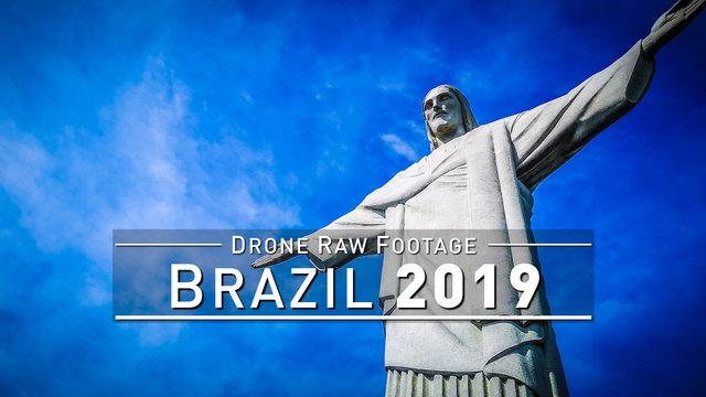 【4K】Drone RAW Footage | BRAZIL 2019 ..:: Sao Paulo & Rio de Janeiro [FULL 7 HOURS] | UltraHD Video