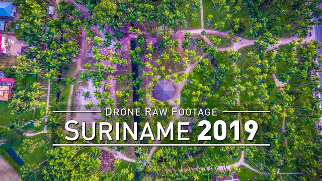 【4K】Drone RAW Footage | SURINAME 2019 ..:: Paramaribo | UltraHD Stock Video