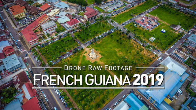 【4K】Drone RAW Footage   FRENCH GUIANA 2019 ..:: Cayenne :: Saint-Laurent-du-M.   UltraHD Stock Video